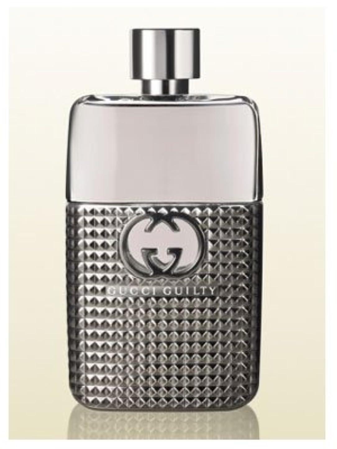 カフェテリア血まみれの仮定するGucci Guilty Studs Pour Homme (グッチ ギルティー スタッド プール オム) 3.0 oz (90ml) EDT Spray for Men