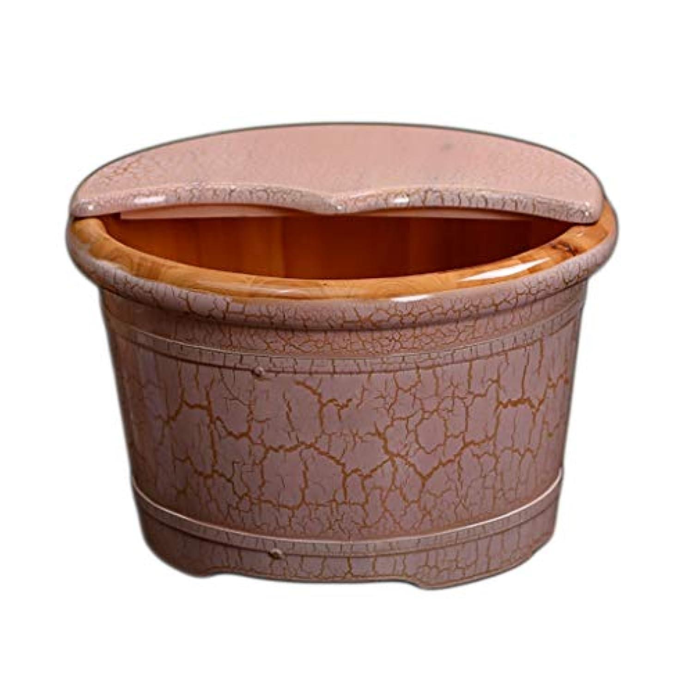 NUBAOgy シダーは、足のバレル、足のバスバレル、家庭の足のバスバレル、ヨーロッパのひびの足の洗濯バレル、足浴、家族に適して浸漬、マッサージショップ、41 * 36 * 38.5センチメートル