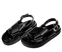 [Yusoi] 厚底サンダル 美脚 オフィス レディース 履きやすい 歩きやすい 疲れない プラットフォーム シンプル 24.0cm