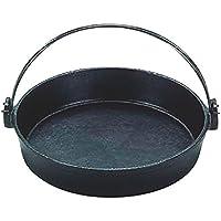 すき焼 鍋 ツル付(黒塗り) 鉄製 28cm IH対応 日本製 国産 鉄分 補給 ぎょうざ パエリア にも