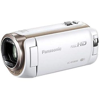 パナソニック HDビデオカメラ W580M 32GB サブカメラ搭載 高倍率90倍ズーム ホワイト HC-W580M-W