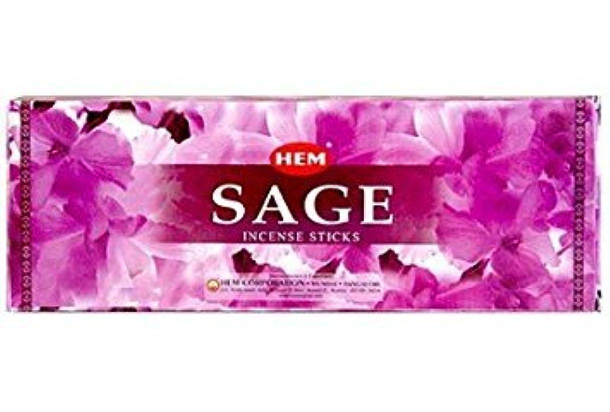 一生熱狂的な感嘆符Hem Salvia Sage Incense Sticks 120 Sticks (6 X 20 Sticks )