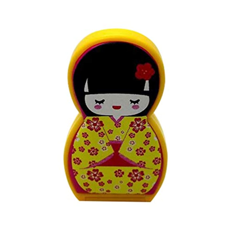 シガレット警官脆いHongma ネイルケアセット マニキュアセット 可愛い 日本人形 ロシア人形 グルーミングキット 爪やすり 爪切りセット 携帯便利 収納ケース付き (日本人形イェロー)