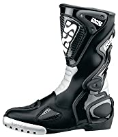 IXS: バイク用レザー レーシングブーツ 「VICTORY」 ブラック