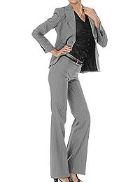 パンツスーツ リクルートスーツ レディススーツ グレーストライプ 就活 13号 上下別サイズ対応スーツ