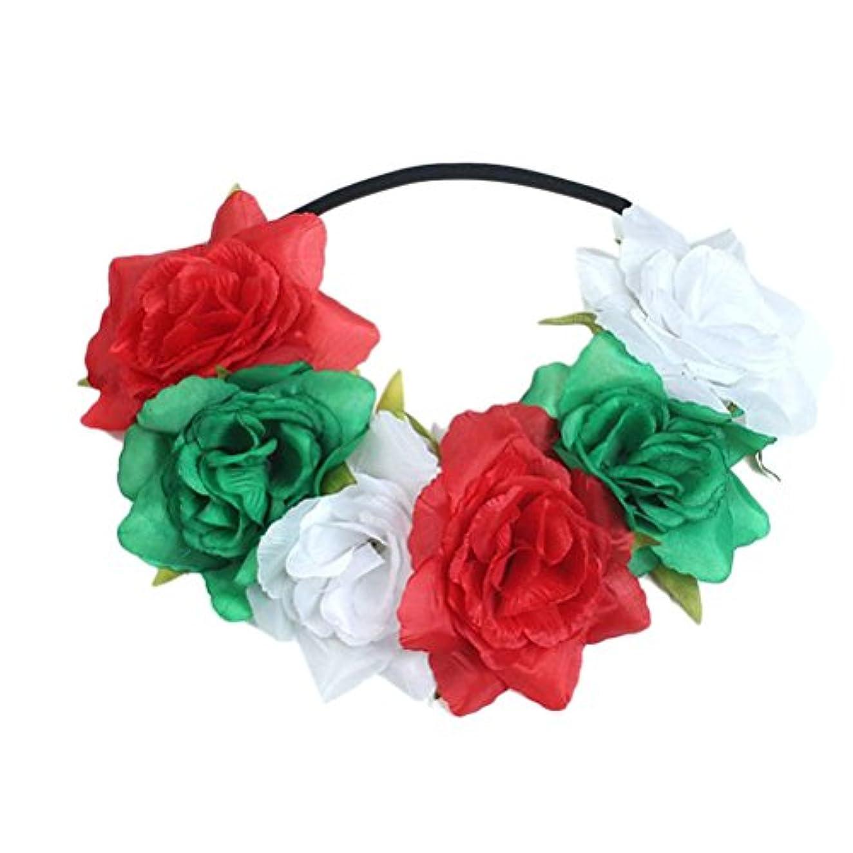 超高層ビルミント議論するZhhlaixing アクセサリー Big Flowers Hair Bands Accessories Beach Seaside Holiday Flowers Head Ornaments Hair for Women
