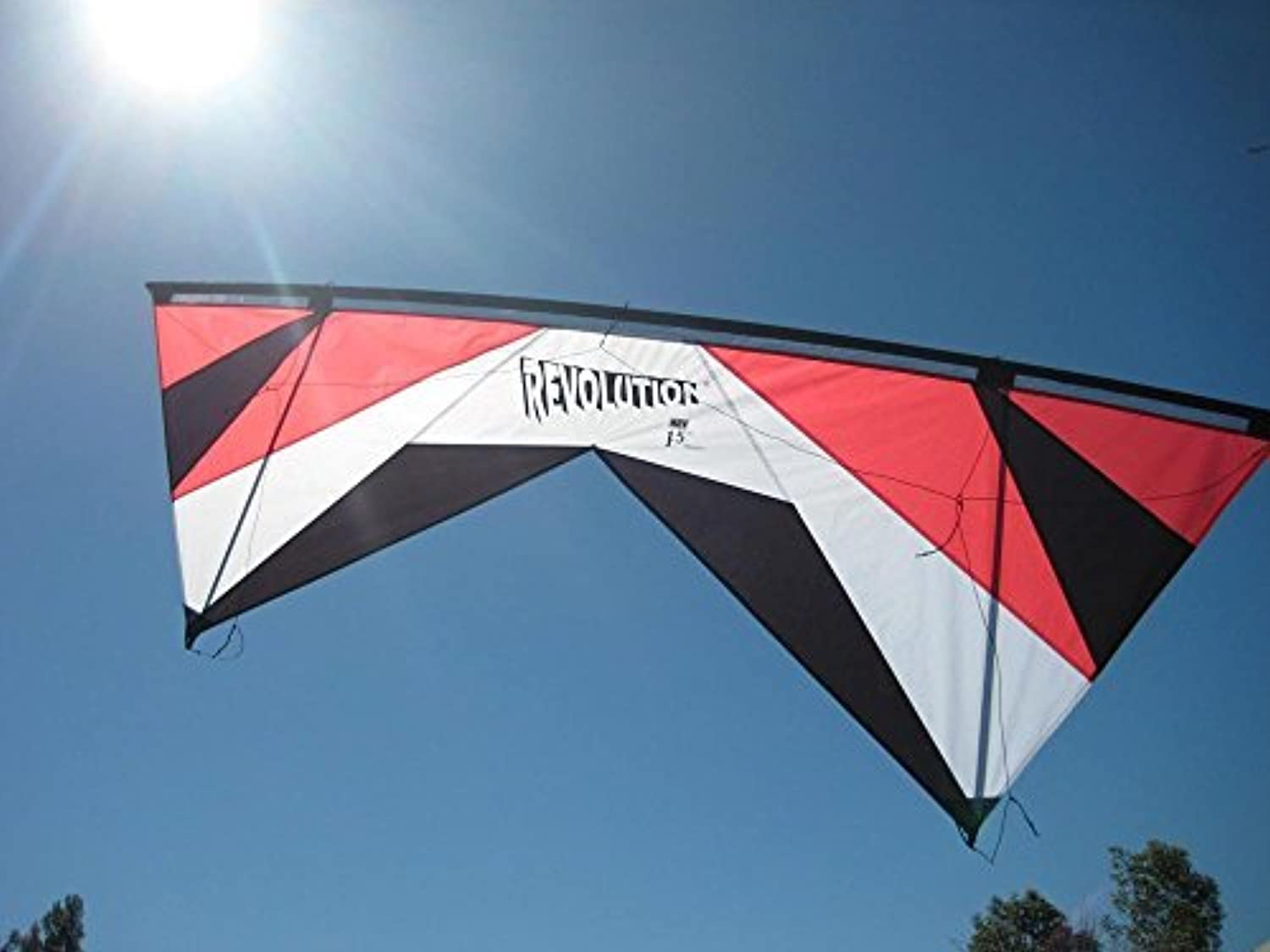 Revolution 1.5 SLE Standard Red White Black Quad Line Stunt Kite Made in the USA by Revolution [並行輸入品]