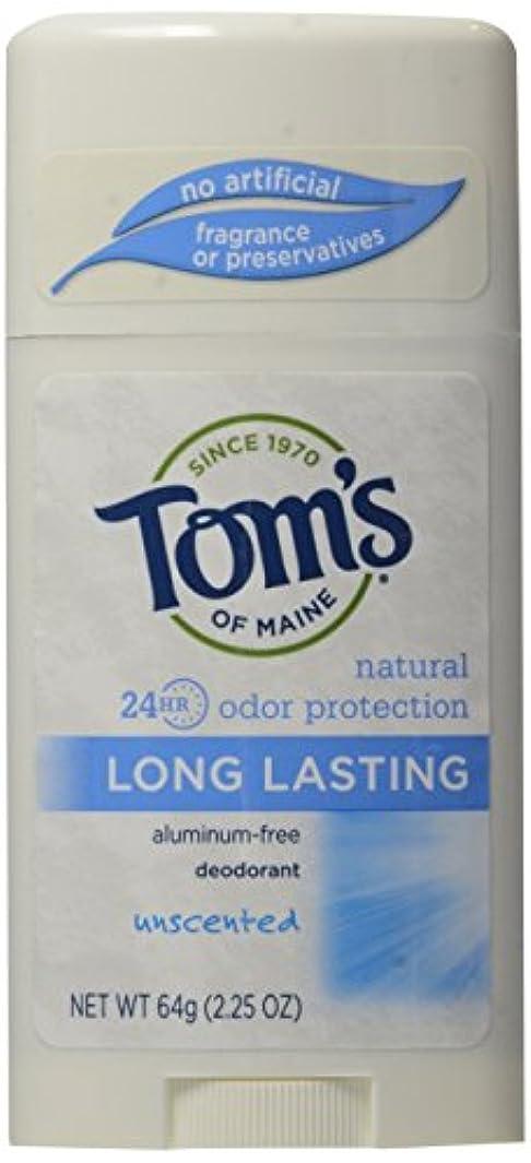 ぐるぐるソブリケット邪悪なTom's of Maine Long Lasting Deodorant Stick Unscented - USA (並行輸入品)