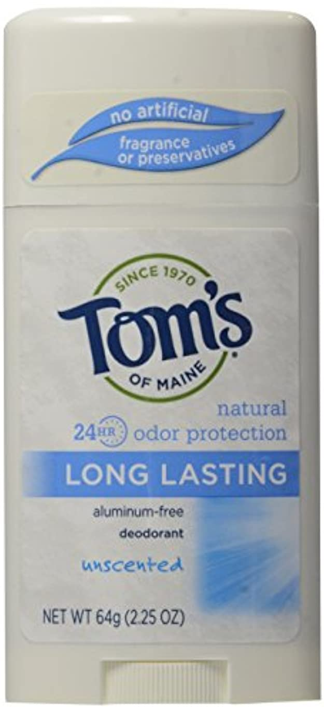 地中海専門用語勇敢なTom's of Maine Long Lasting Deodorant Stick Unscented - USA (並行輸入品)