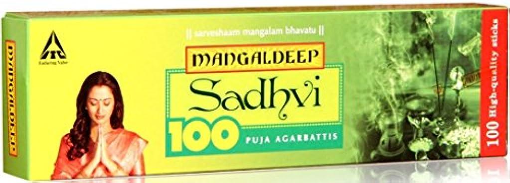 発疹特異性どんなときもMangaldeep Sadhvi 100供養Incense Stick
