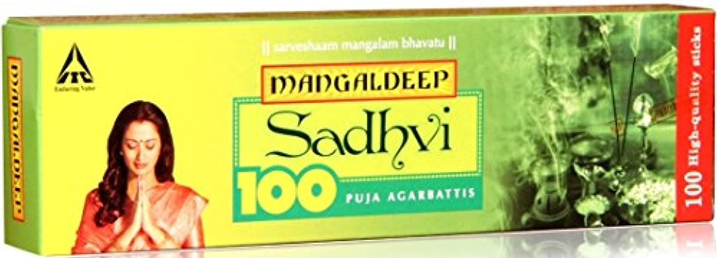 殺すキャンバスオペレーターMangaldeep Sadhvi 100供養Incense Stick