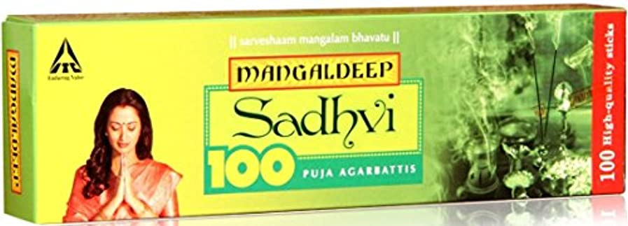 回復予見する神聖Mangaldeep Sadhvi 100供養Incense Stick