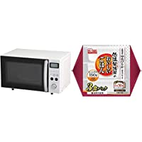 【セット買い】アイリスオーヤマ オーブンレンジ 15L ホワイト MO-T1501-W & 低温製法米 パックごはん ゆめぴりか 国産米100% 150g×3個 セット