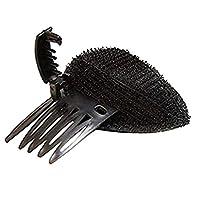 前髪クッション ヘアコーム 髪型ツール ヘアスタイリング - S ブラック