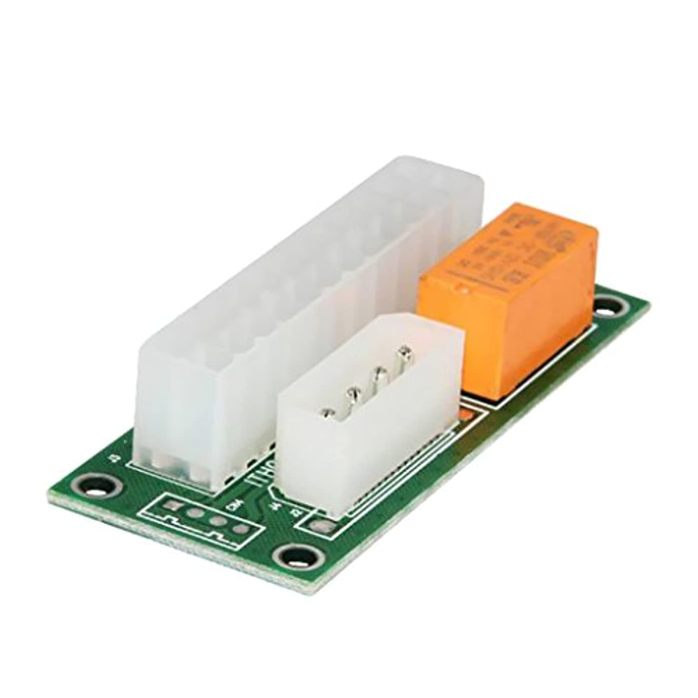 相関する自然テメリティ24ピン 電源起動 シンク アダプタ プラスチック ATX PSU デュアル ダブル パワー コンバータ