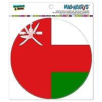 オマーン国立国旗 - サークル MAG-格好いい'S(TM)カー/冷蔵庫マグネット