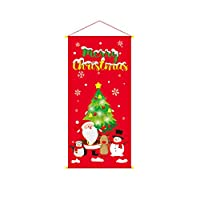 環境 クリスマスの装飾、クリスマスドレス窓の装飾、クリスマススタイル装飾壁掛け布 非毒性 (Color : A)