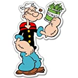 "Popeye the sailor Spinach Vynil車ステッカーデカール – 選択サイズ Regular: 5"" c-popeye7 5"""