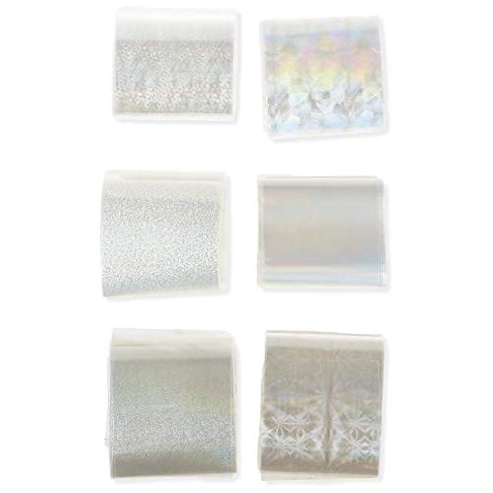 積極的にぼかす無実ネイルパーツ ネイルステッカー 透明 ネイル箔 キラキラ ネイルパーツ アート転写 ステッカーペーパー ネイル ヒントデコ レーション アクセサリー 6本 ハンドメイド材料