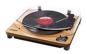 ION Audio レコードプレーヤー Bluetooth対応 USB端子 Air LP 天然木