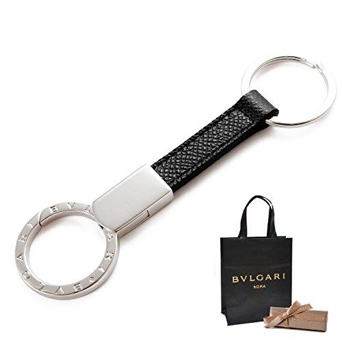 [ギフトラッピング済み] (ブルガリ) BVLGARI ダブル キーリング キーホルダー 正規品 化粧箱・ショップバッグ付き