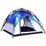 MHKBD-JP 3-4ダブルキャンプ自動テント屋外ダブルマルチプレイヤースターキャンプテント キャンプテント (サイズ : 3-4P)