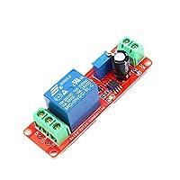 1ピースdc 5ボルト遅延リレーシールドne555タイマースイッチ調整可能なモジュール0〜10 s 0秒〜10 2200ワット時間遅延リレーモジュールタイミングcpu