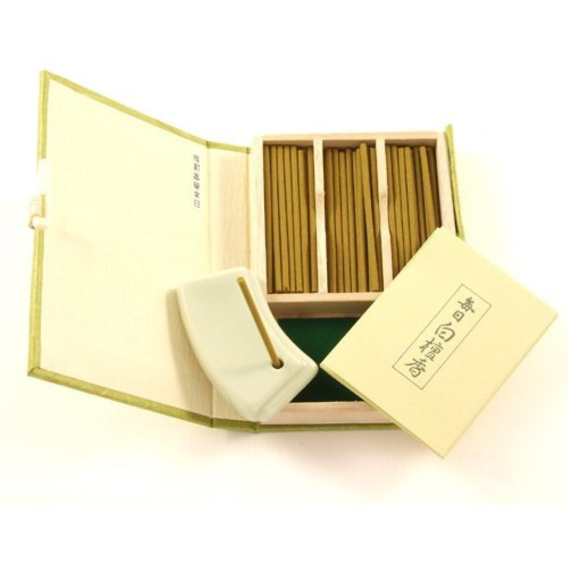 海藻垂直水素Japanese Sandalwood Incense Gift Set Mainichi Byakudan by Nippon [並行輸入品]
