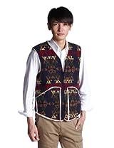 Sherpa Lining Vest JS11-001: Indian Print