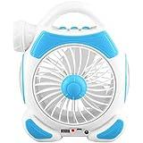 Xinyear 充電式扇風機 USB扇風機 充電 クリップ LED ライト 多機能 卓上ミニファン 卓上扇風機 ファン ミニ 扇風機 可愛い 超強力送風 大風量 便利 USBケーブル付き ベビーカー 熱中症対策 (ブルー)
