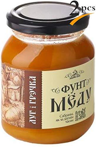 【Amazon.co.jp限定】 はちみつ 蜂蜜 ハチミツ 生 2個組 セット ソバ 蕎麦 はちみつ 624g Raw Honey Buckwheat 624g x 2 units
