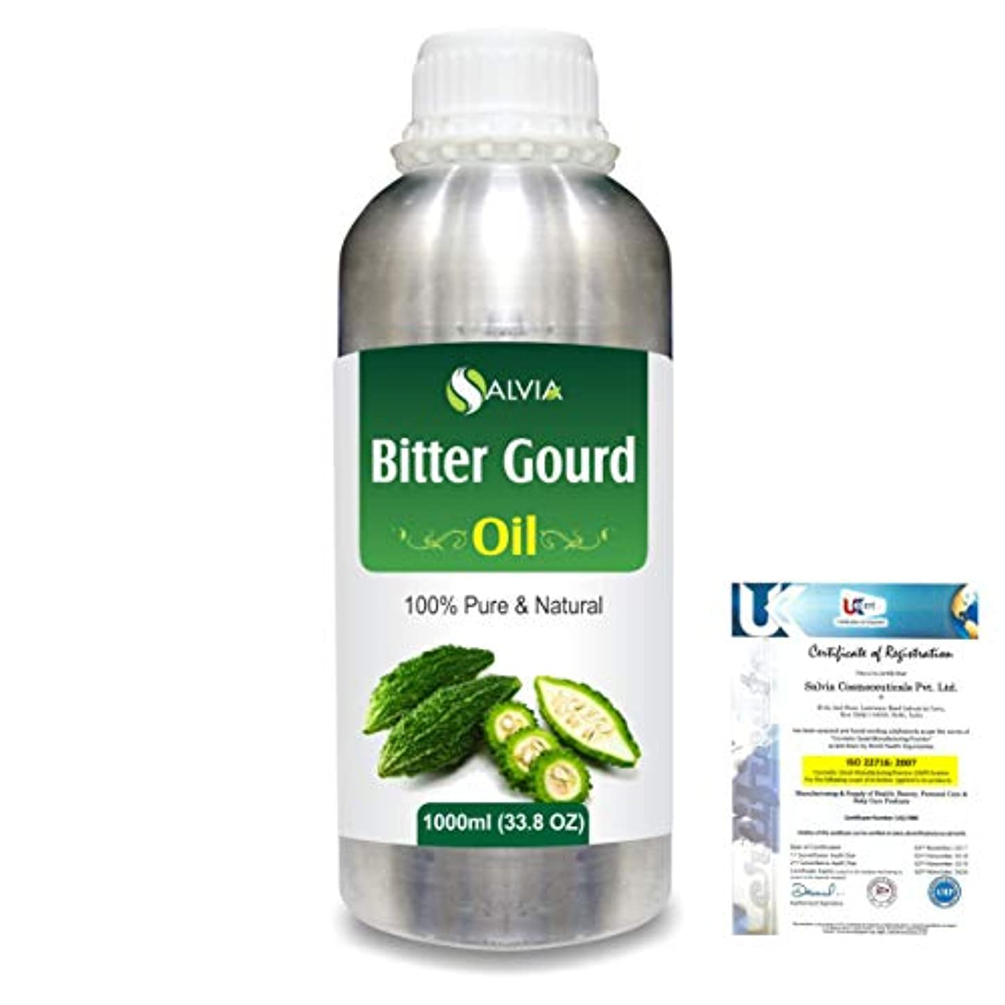 計算可能五十物理学者Bitter Gourd (Momordica Charantia) 100% Pure Natural Carrier Oil 1000ml/33.8fl.oz.