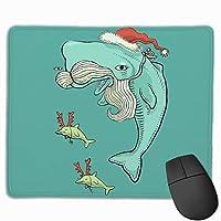 クリスマスクジラゲームマウスパッドマウスパッド滑り止めラバーマウスマット長方形マウスパッド用デスクラップトップ事務作業