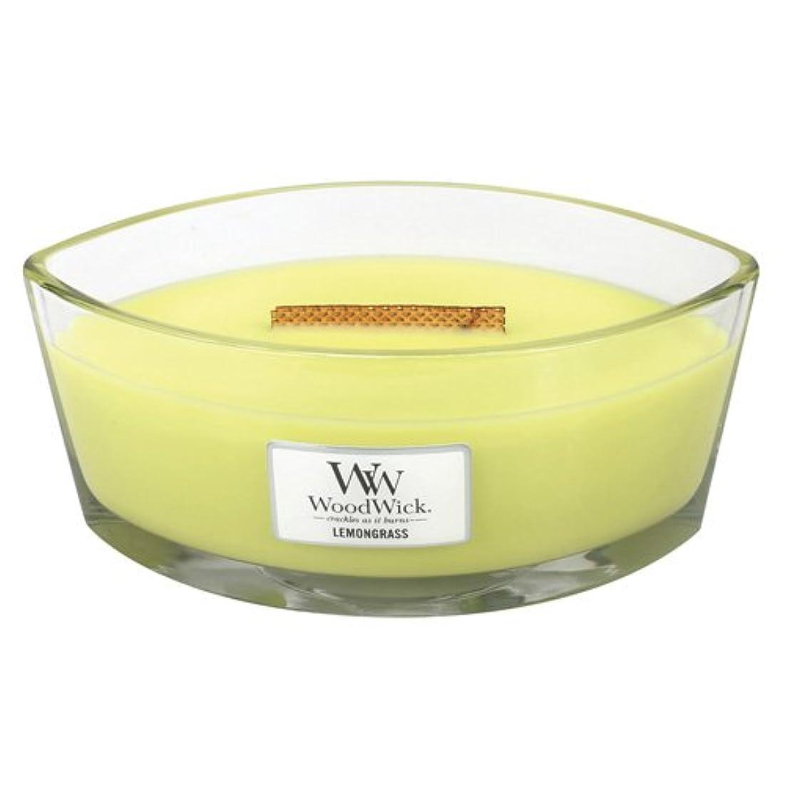 つぶす広告する動機付けるレモングラスLily HearthWick Flame Large Scented Candle by WoodWick