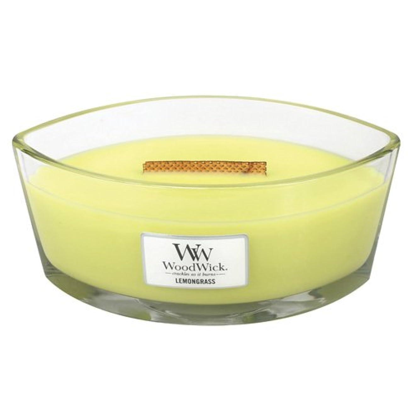きしむ請求可能先のことを考えるレモングラスLily HearthWick Flame Large Scented Candle by WoodWick