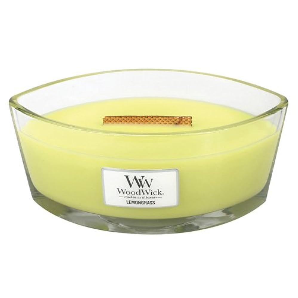 あそこ叫ぶ円形レモングラスLily HearthWick Flame Large Scented Candle by WoodWick