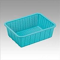 セキスイ:メロウタイム 角カゴ 深型 ブルー  外寸:幅295×奥390×高130mm A4書類用 K545B2 70904