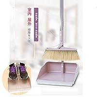 掃除セット ちりとり ほうき 掃除道具 髪の毛 掃除簡単 持ち運びに便利 お部屋や玄関、室内 屋外問わずお使いいただけます(2节) (ベージュ)
