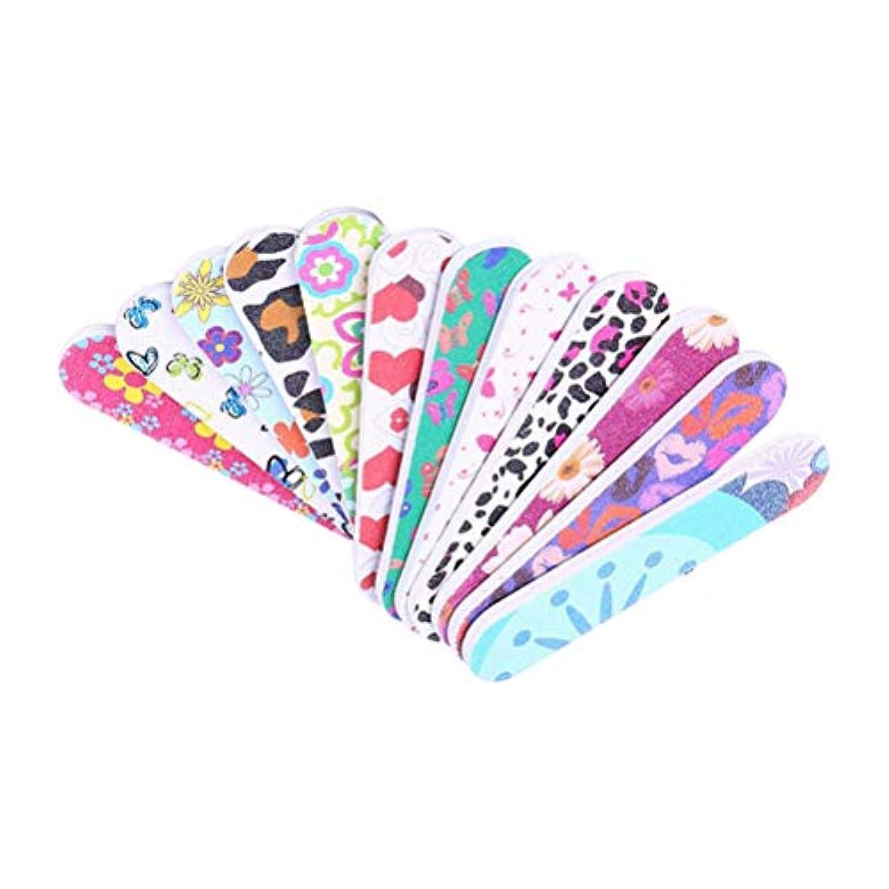 Frcolor 爪やすり 爪磨き 両面タイプ ネイルシャイナー お手入れ ネイルケア マニキュア ネイルファイル 50本セット(ランダム色)