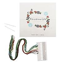 Fenteer 刺繍キット 糸&針付き DIY 手作り 手工芸愛好家 初心者 花 全4色 - 2