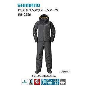 シマノ DSアドバンスウォームスーツ RB-025R ブラック XLs