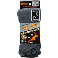 おたふく手袋 ボディータフネス 発熱・保温 テックサーモ 靴下 5本指 カカト切替なし 2足組