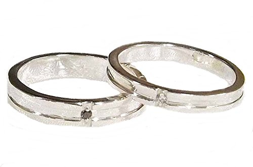ペアリング 結婚指輪 ダイヤモンド 2本セット 手作り オーダーメイド シルバー925