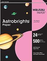 Wausau Astrobrights Heavy Duty紙、24ポンド、8.5X 11インチ、パルサーピンク、500シート( 21628)