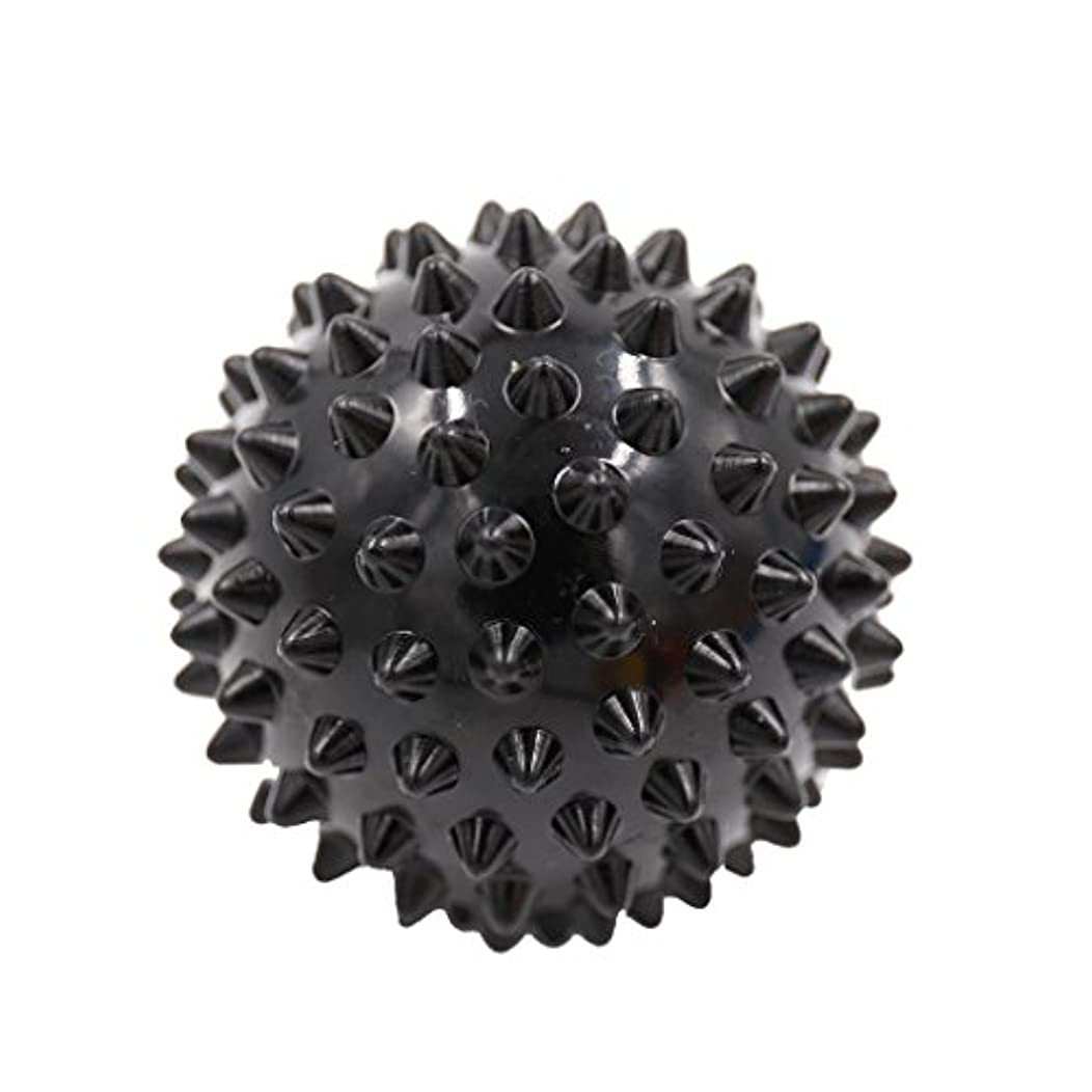 バッテリースナップそこからマッサージボール マッサージ器 マッサージャー リラックス スパイク マッサージボール 3色選べ - ブラック, 説明したように