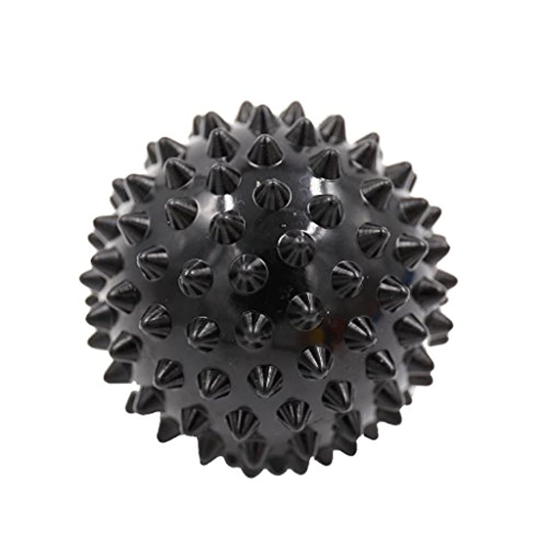 深く日帰り旅行に意識マッサージボール マッサージ器 ボディ パームレリーフ スパイク マッサージ 刺激ボール 3色選べ - ブラック, 説明したように