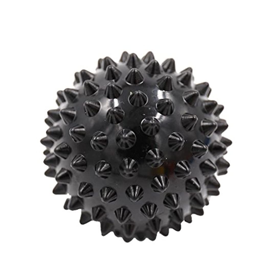 会計士血統うなり声Perfk マッサージボール マッサージ器 ボディ レリーフ  スパイク マッサージ 刺激ボール 3色選べ - ブラック