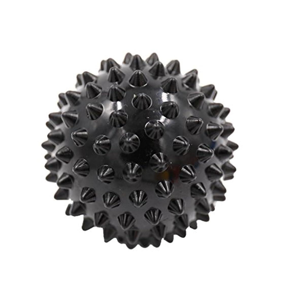 塩辛いふける飲料マッサージボール マッサージ器 ボディ パームレリーフ スパイク マッサージ 刺激ボール 3色選べ - ブラック, 説明したように