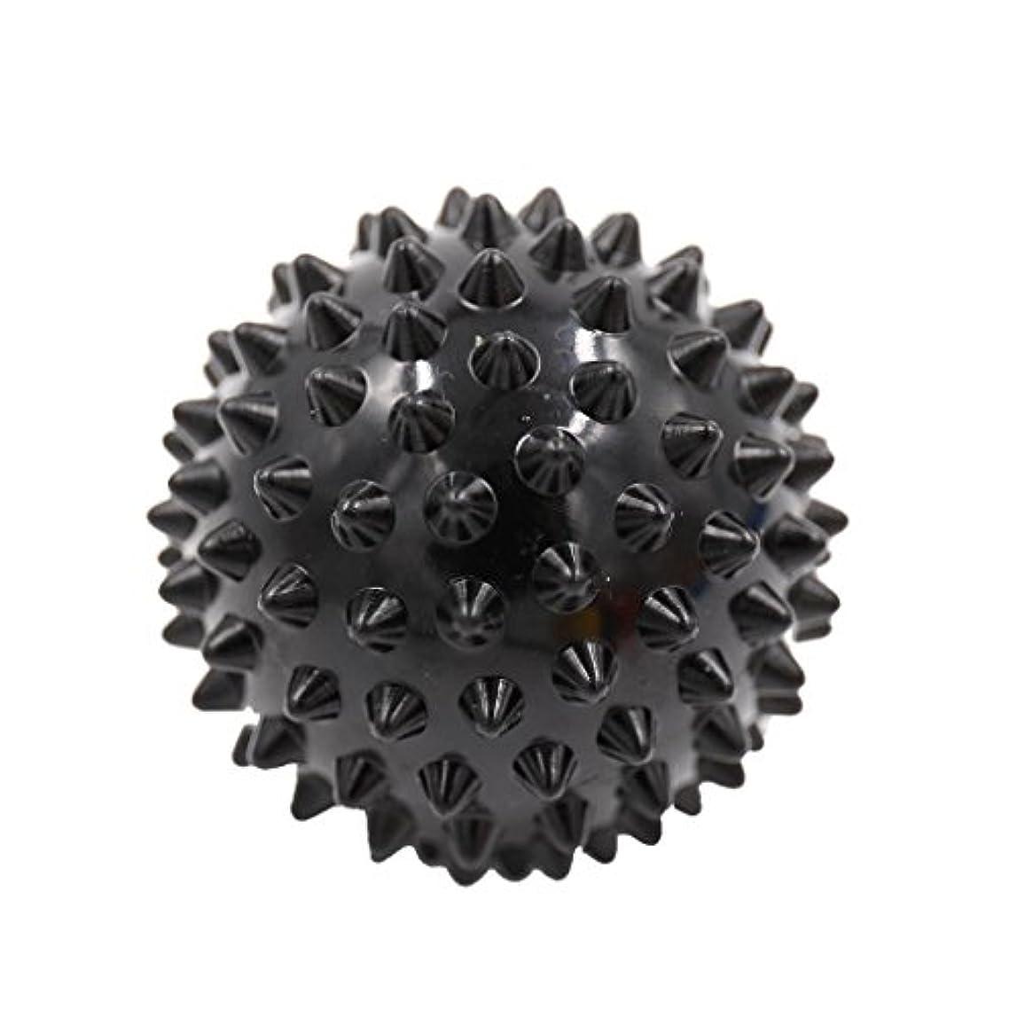 ライフル有効なロードされたPerfk マッサージボール マッサージ器 ボディ レリーフ  スパイク マッサージ 刺激ボール 3色選べ - ブラック
