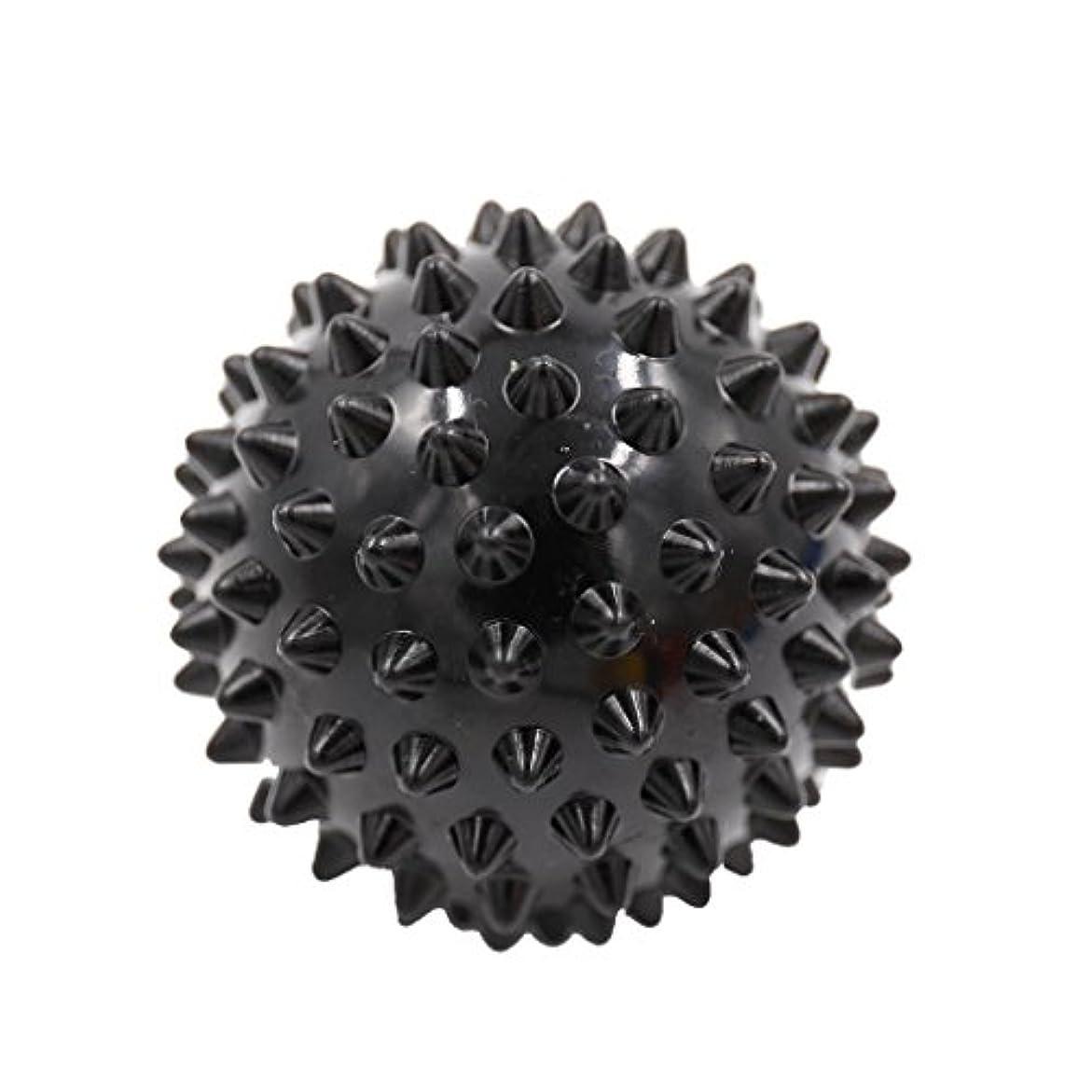 活発スペシャリスト銀Perfk マッサージボール マッサージ器 ボディ レリーフ  スパイク マッサージ 刺激ボール 3色選べ - ブラック